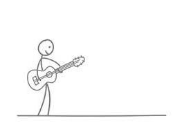 Gitarre strichmaennchen