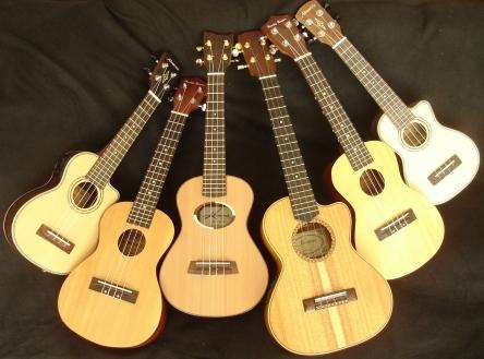 Deze ukulele's neem ik mee voor de deelnemers van de snuffelcursus.